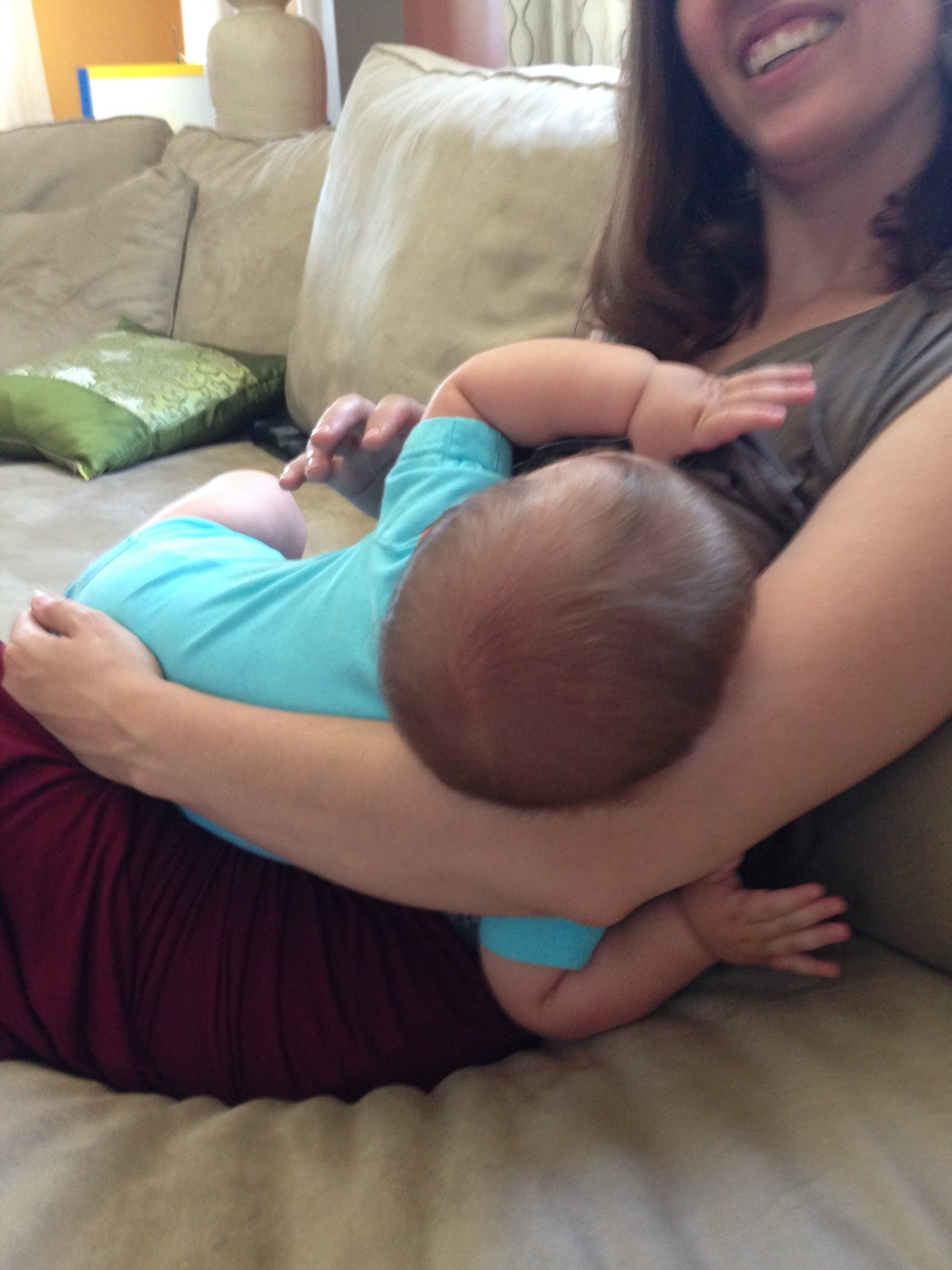 Breastfeeding my son