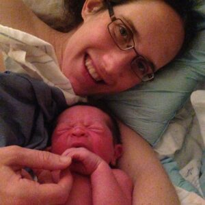 Becca and baby after birth